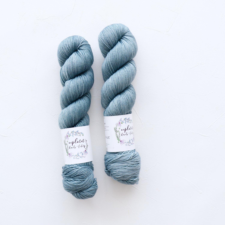 【Explorer Knits + Fibers】<br>Denali Sock<br>BLUE SPRUCE