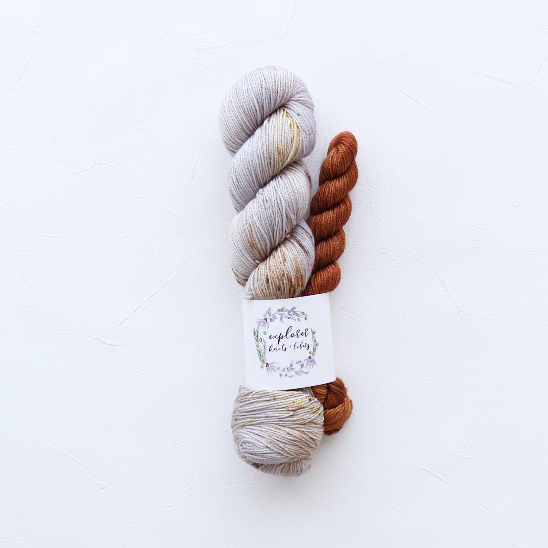 【Explorer Knits + Fibers】<br>Denali Sock sets<br>Aspens in Fall (Monarch)