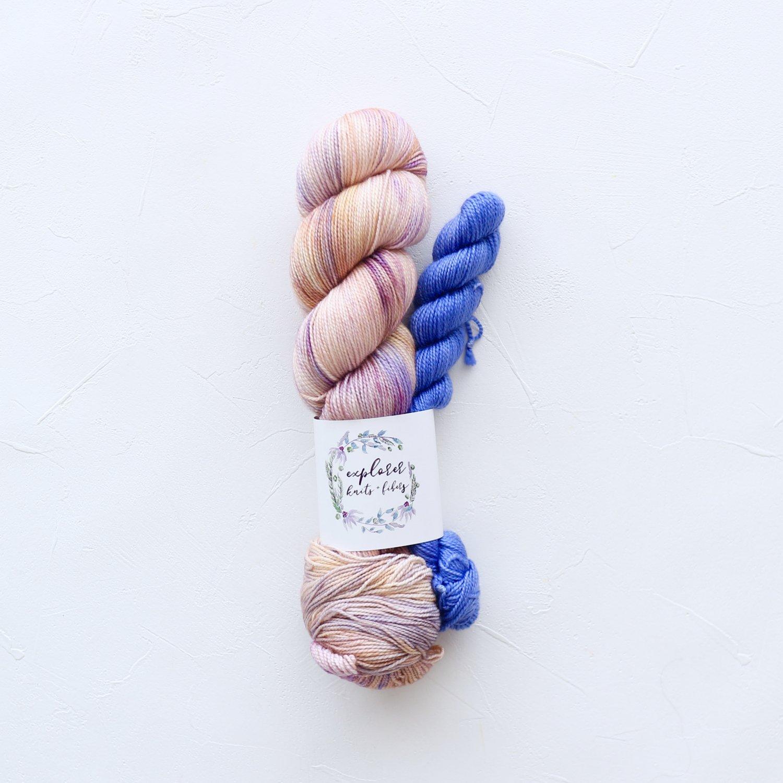 【Explorer Knits + Fibers】<br>Denali Sock sets<br>Cinque Terre (Azzurro)