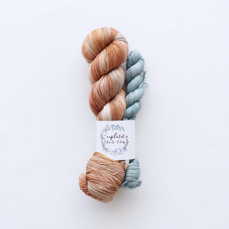 【Explorer Knits + Fibers】<br>Denali Sock sets<br>Roma (Trastevere)