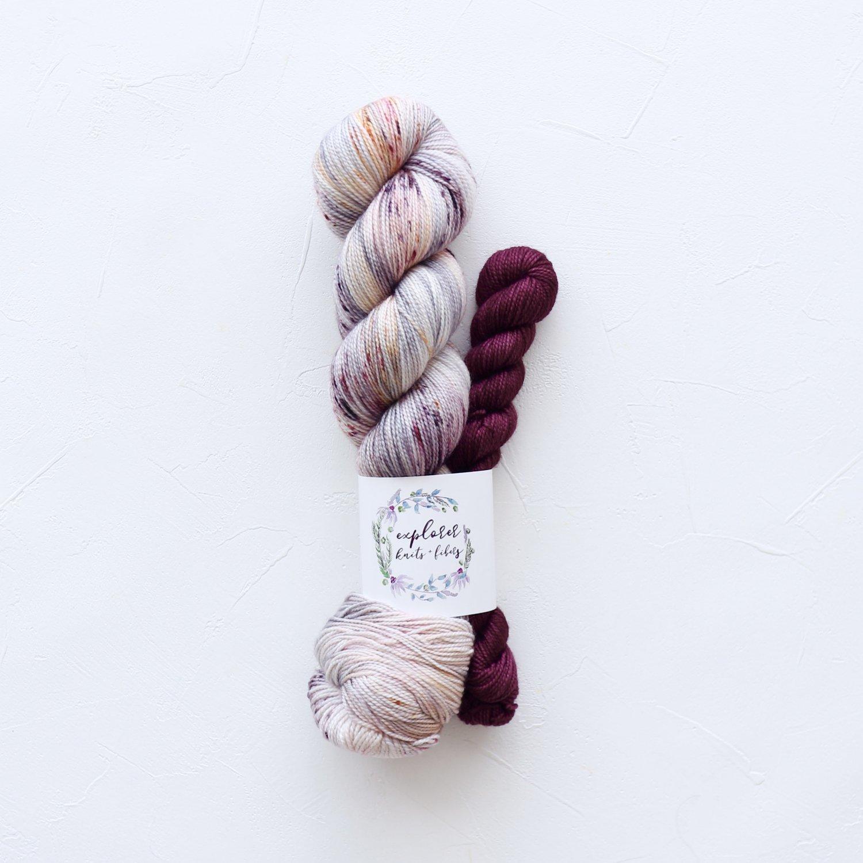 【Explorer Knits + Fibers】<br>Denali Sock sets<br>Sweater Weather (Velvet)