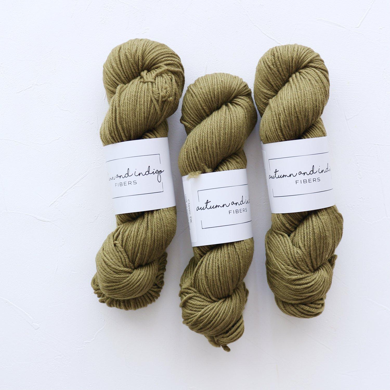 【Autumn and Indigo】<br>Classic DK<br>Moss