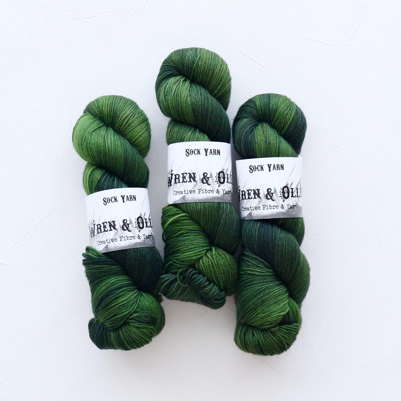 【Wren & Ollie】<br>Sock Yarn<br>Evergreen