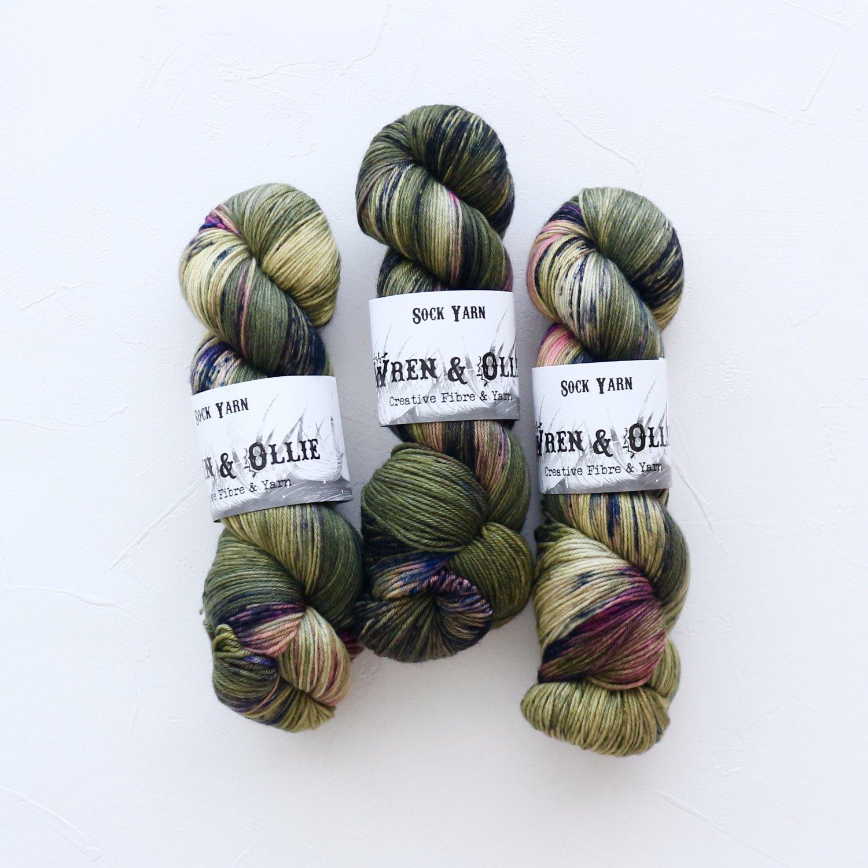 【Wren & Ollie】<br>Sock Yarn<br>Terrarium