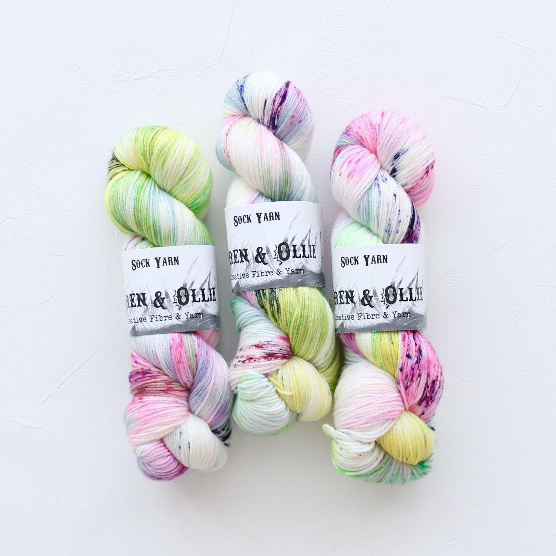 【Wren & Ollie】<br>Sock Yarn<br>Sweet & Sour