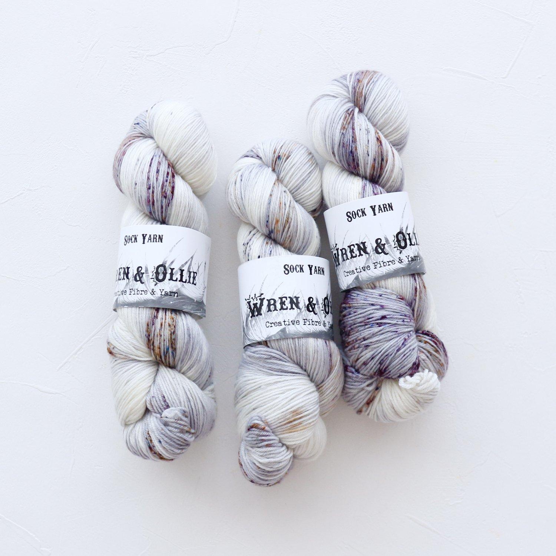【Wren & Ollie】<br>Sock Yarn<br>Vanilla Chai