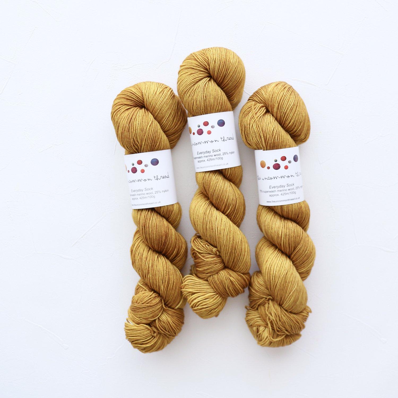 【The Uncommon Thread】<br>Everyday Sock<br>Golden Praline