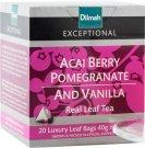 Dilmah ディルマ『アサイベリー・ウィズ・ポメグラント&バニラ Acai Berry with Pomegranate & Vanilla』20ティーバッグ入り