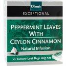 Dilmah ディルマ『ペパーミントリーフ&セイロンシナモン Peppermint Leaves with Ceylon Cinnamon』20ティーバッグ入り