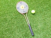 Tennis racket type Clock