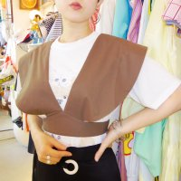 QFD big round collar tops /khaki