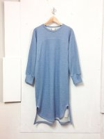AWA sweat one piece /light blue