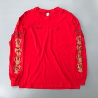 AIRR - HOW TO USE CHOPSTICKS L/S T-shirt / Red