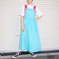 QFD apron dress /blue×red