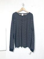 AWA switching long T-shirt /black stripe