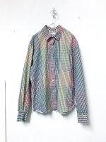 USA mix gingham check pattern shirt