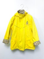 Plaid lining parka /yellow