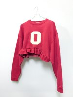 褻着 kegi frilled sweatshirt /red