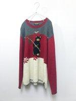 WOOLRICH bear design sweater