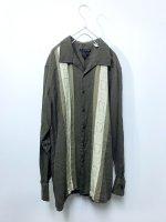 Design silk open collar shirt /brown