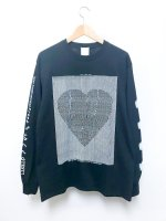 AWA ''Love communication'' L/S T-shirt /black
