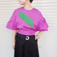 【50%OFF】QFD 2019ss Cotton tops / purple × green<img class='new_mark_img2' src='https://img.shop-pro.jp/img/new/icons20.gif' style='border:none;display:inline;margin:0px;padding:0px;width:auto;' />