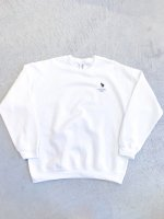 airr - PORO PORO CLUB sweat shirt / white
