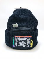 airr - HAND SMELL CLUB knit cap / black
