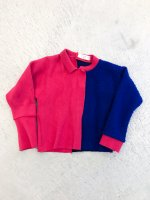 QFD - Remake knit tops / blue×pink