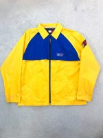 1990s TOMMY JEANS nylon jkt / yellow×blue