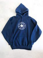 CONVERSE embroidery hoodie / navy
