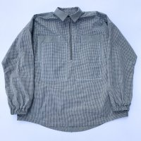 AWA - 4 pockets half zip shirts / Gingham check
