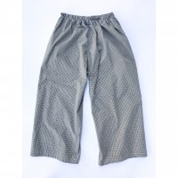 AWA - 4 pockets wide pants / Gingham check