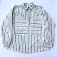AWA - 4 pockets half zip shirts / Stripe