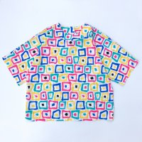 1980s Pop color polyester s/s shirt