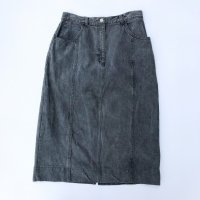 TOGETHER Denim skirt / Black