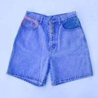 Design denim short pants