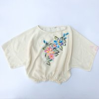 Hand paint flower s/s shirt