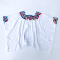 Hand embroidery cotton gauze shirt