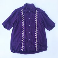 Vintage Jagged knit switching s/s shirt