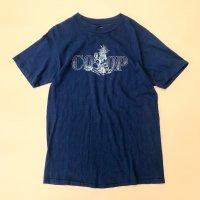 1990s Fruits print T-shirt / Navy
