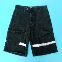 MARITHE+FRANCOIS GIRBAUD velcro denim shorts / Black × White