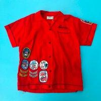 1970s Hilton bowling shirt / Red