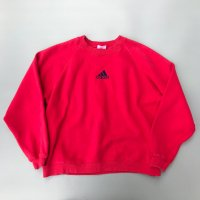 1990s adidas sweatshirts / Red