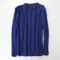 Cable hand knit / Navy