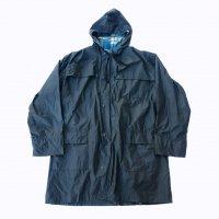 Oilskin hooded coat / Black
