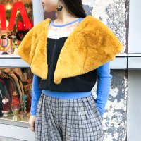 30%OFF QFD - AW19 FUR TOP / Yellow<img class='new_mark_img2' src='https://img.shop-pro.jp/img/new/icons20.gif' style='border:none;display:inline;margin:0px;padding:0px;width:auto;' />