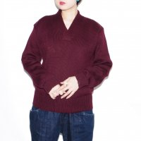 Vintage NELSON KNITTING MILLS CO. V-neck sweater / Burgundy