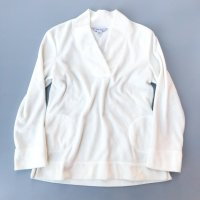 NAUTICA V-neck fleece tops / White