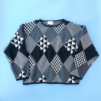 1980s Geometric pattern sweater